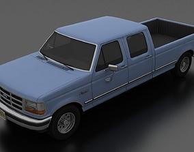 3D asset F-350 Pickup 1992-1997 CrewCab