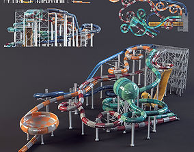 water Park slides3 3D