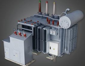 3D model Large Industrial Power Conduit Unit - GEN - PBR 1