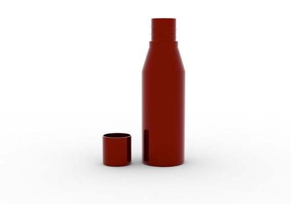 Water Bottle Model WB2 Red 3D print model