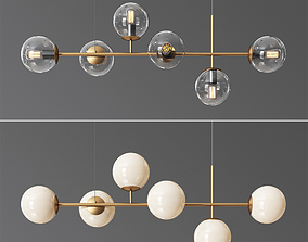 Raizer Linear Chandelier 3D model