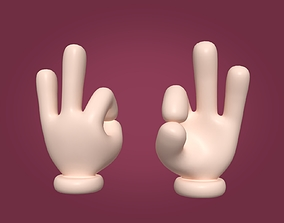 3D model Cartoon Hand - Ok Sign - Computer Icon