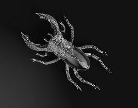 3D print model Beetle brooch with enamel