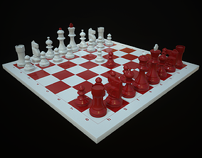 Chess 3D asset game-ready PBR