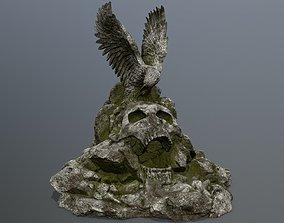 3D model low-poly skull gate desert