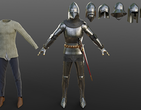 Early 15th Century English armor 3D model
