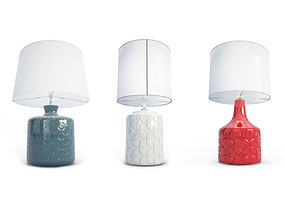 3 Graphic Table Lamps 3D