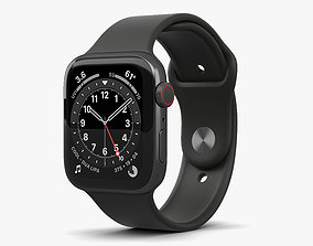 3D Apple Watch Series 6 44mm Stainless Steel Graphite
