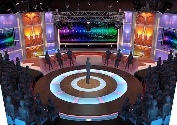 3d Virtual TV Studio Entertainment Set 3