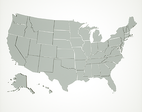realtime USA States 3D