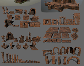 ruin set sculpture 3D asset realtime