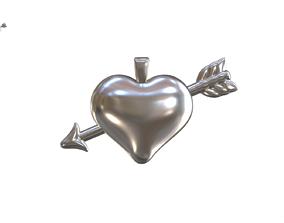 3D printable model Heart Arrow Relief
