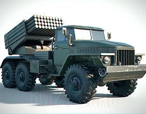 BM-21 Grad Aged PBR 3D model