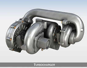 air-compressor Turbocharger 3D model