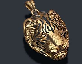 3D print model necklace Tiger pendant