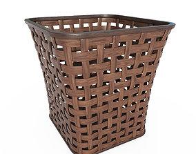 3D asset Wicker wooden basket v3