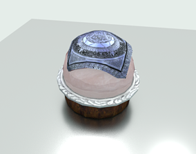 Crystal Ball with cover cloth 3D asset