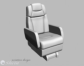 3D airplane business class seat