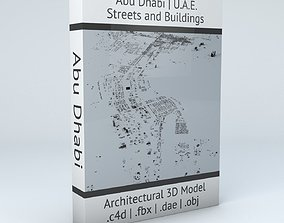 Abu Dhabi Streets and Buildings 3D model
