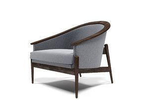 3D model Mid-century american armchair