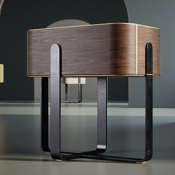 Furniture Bedside cabinet 002