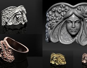 Nature organic Beauty art ring print model