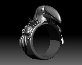 3D printable model toucan ring
