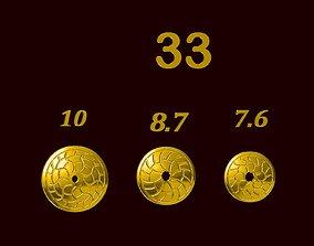 Para ball jewelery gold printable plain studded 33