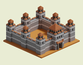 Stronghold Walls 3D model