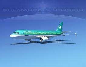 Airbus A320 LP Aer Lingus 3D model
