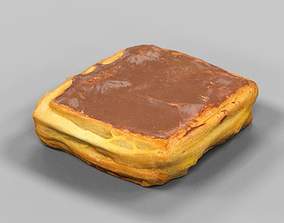 Chocolate and Pudding Cake 3D asset VR / AR ready