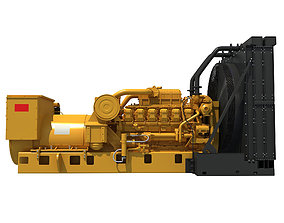 3D model Power Generator Engine