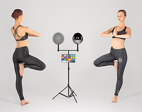 3D model game-ready Woman practicing yoga 29