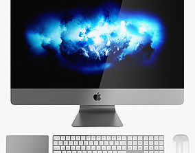 3D model Apple iMac Pro Set 1 - Office Mac