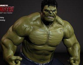 The Hulk 3D model rigged