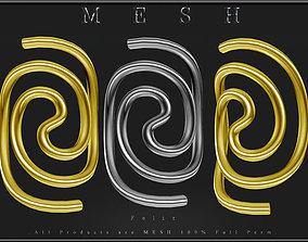 Swirl jewelry - Curved 3D asset
