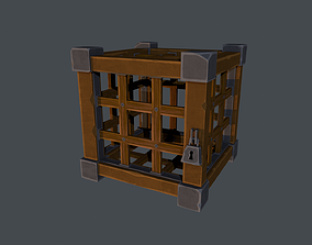 Cage Stylized 3D model