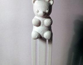 3D printable model Playful Gummy Bear Bookmark