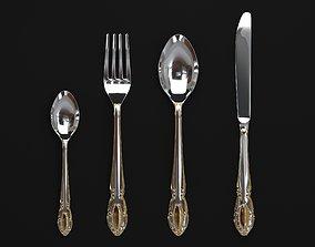 3D model Cutlery set Wellberg Almaz