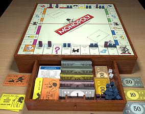 Wood Monopoly 3D model