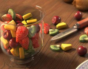 Fruits Salad 3D model