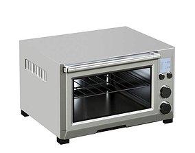 Silver Digital Toaster 3D model