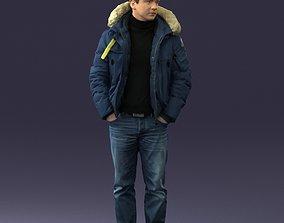 Man in a winter jacket pilot 0084 3D Print Ready