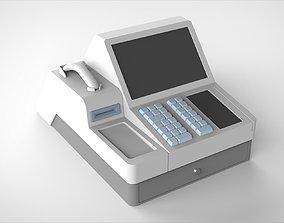 POS system cash register 3D model