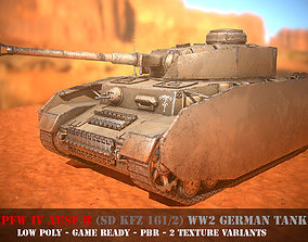 rigged Panzer IV - WW 2 German Tank - Game Ready - PBR - 1