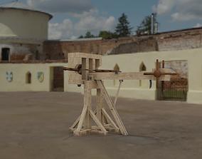 3D model Lowpoly Ballista