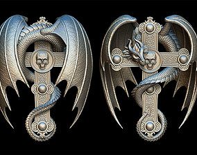3D print model Dragon Cross