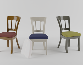 3D model Chairs and tables