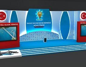 3D model Huge Opening Ceremony Stage 104