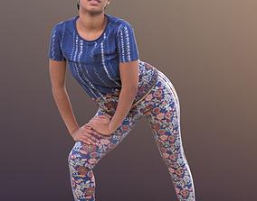 3D asset Yanelle 10378 - Stretching Sport Girl